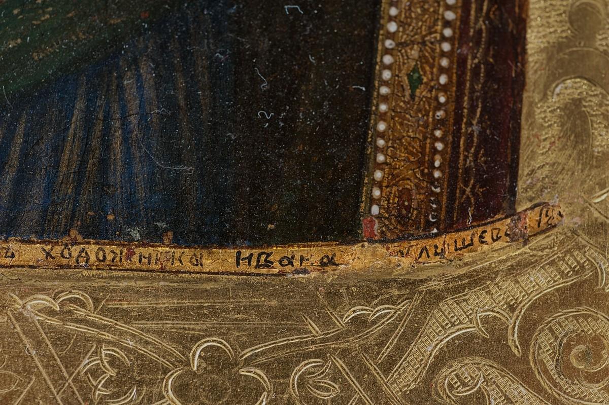 Фрагмент образа Пресвятой Богородицы Тихвинской, антиквариат