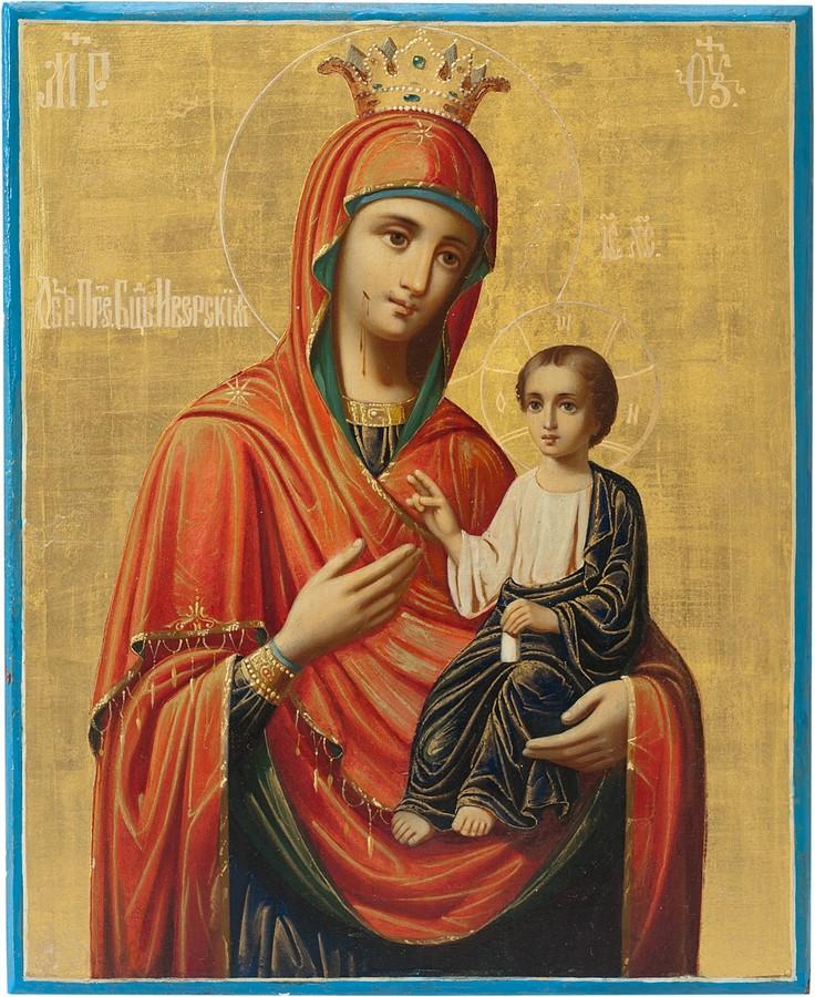 Антикварный Образ Пресвятой Богородицы Иверской
