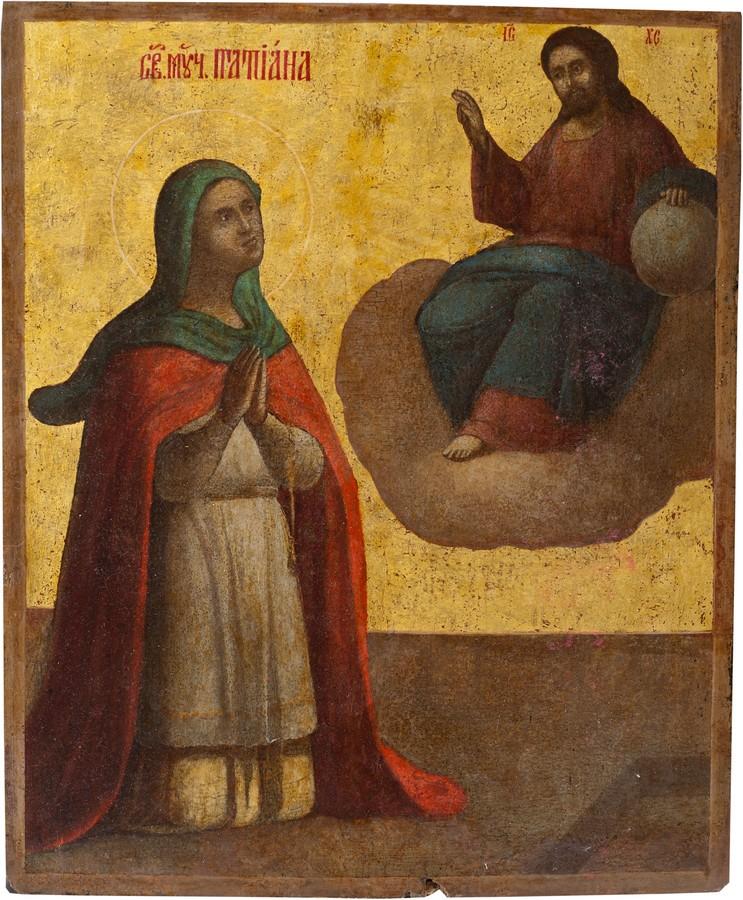 Антикварный Образ Святой Мученицы Татьяны