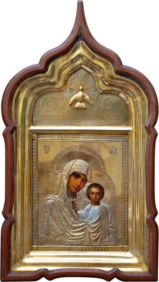 Антикварный Образ Пресвятой Богородицы Казанской