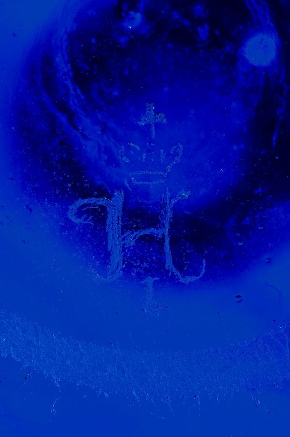 Антиквариат, антикварная посуда, Фрагмент графина с монограммой Николая I