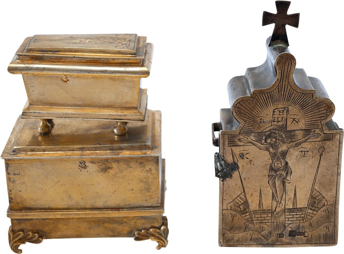 Антиквариат, антикварная посуда, Дарохранительница и Мощевик