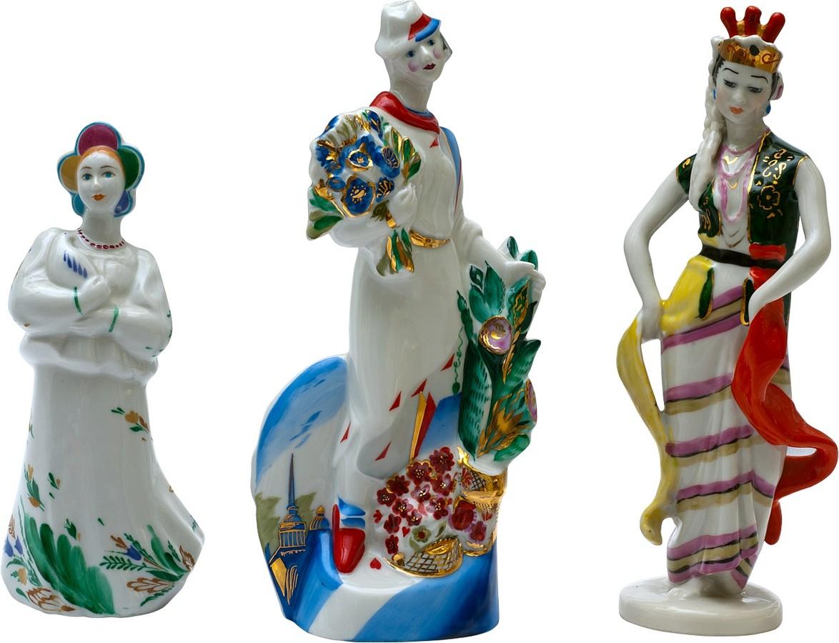 Антикварные фарфоровые фигуры