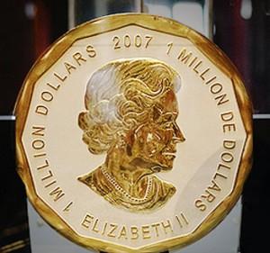 Золотая монета весом 100 килограмм