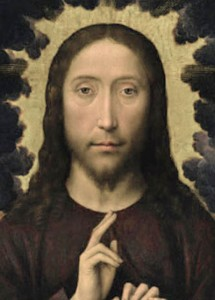 Благословение Христа Мемлинга, антикварная икона