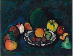 Илья Машков «Натюрморт с фруктами» (1910)