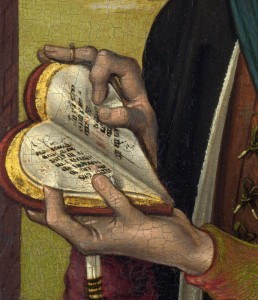Master of the View of St Gudula Young Man Holding a Book, ca. 1480, фрагмент