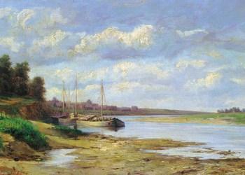 Сергей Николаевич Аммосов «Барки на реке» (1868)